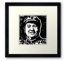CHAIRMAN MAO-2 Framed Print