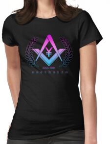 Vaporwave Aesthetic Japanese Yen Freemason Illuminati Womens Fitted T-Shirt