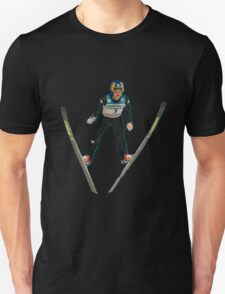 Eddie the eagle skier T-Shirt
