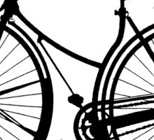 Black Bike Sticker