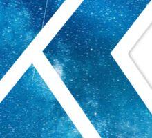 The Letter K - Starry Night Sticker
