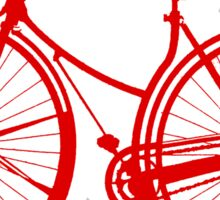 Red Bike Sticker