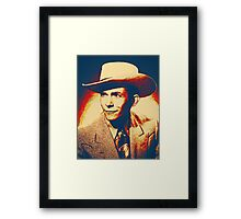 Hank Williams Digital Painting Framed Print