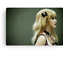 With a Black Bow Canvas Print