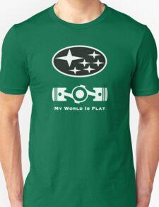 My World is Flat Subaru Unisex T-Shirt