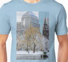 Winter in Boston Public Garden Unisex T-Shirt