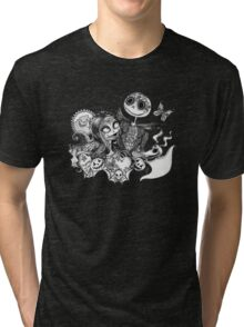 Day of the Dead Jack and Sally Tri-blend T-Shirt