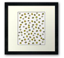 Springtime Flower Doodles (yellow) Framed Print