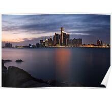 Detroit International Riverfront Poster