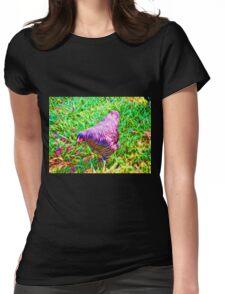 Hen on grass Womens Fitted T-Shirt