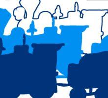 dampflok lok railroad western art Sticker