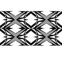 Geometrical Triangles in Cucumber, Peach and Gray Photographic Print