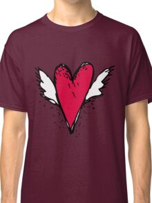 Red heart with wings Classic T-Shirt