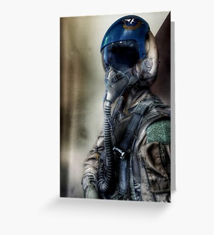 """Air Force Test Pilot"" iPhoneography Greeting Card"