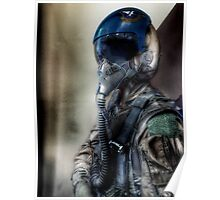 """""""Air Force Test Pilot"""" iPhoneography Poster"""