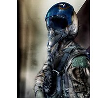 """Air Force Test Pilot"" iPhoneography Photographic Print"