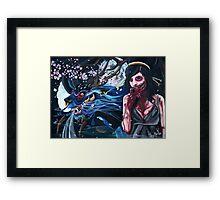 Moon Hunger Framed Print