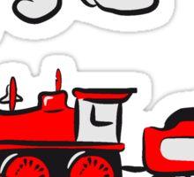 dampflok lok railroad western comic Sticker