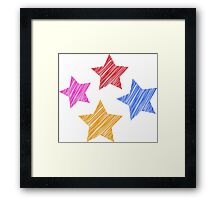 Stars on black Framed Print