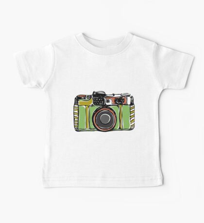 Vintage camera and bicycles Baby Tee