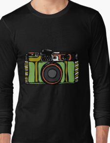 Vintage camera and bicycles Long Sleeve T-Shirt