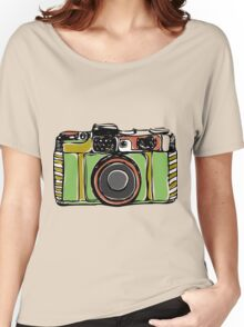 Vintage camera and bicycles Women's Relaxed Fit T-Shirt