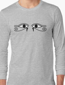 Eyes of Horus in Mathematical Proportions Long Sleeve T-Shirt