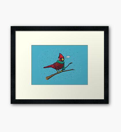 Annoyed IL Birds: The Cardinal Framed Print