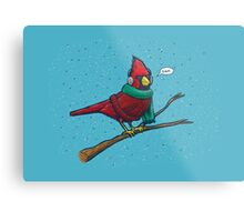 Annoyed IL Birds: The Cardinal Metal Print