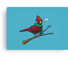 Annoyed IL Birds: The Cardinal Canvas Print