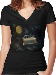 Travellers 2 Women's Fitted V-Neck T-Shirt