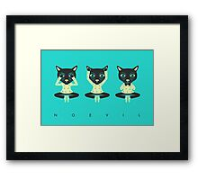 NO EVIL Framed Print