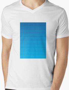 Layers (Blue) Mens V-Neck T-Shirt