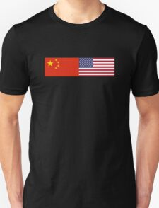 Chinese American Flag T-Shirt - Sino Sticker Ancestry Celebration Unisex T-Shirt