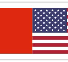 Chinese American Flag T-Shirt - Sino Sticker Ancestry Celebration Sticker