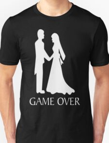 Humor Funny Tee Graphic  Game Over Wedding T-Shirt