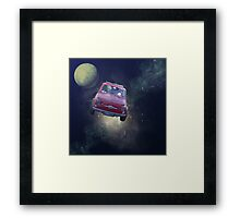Bella in Space - by Anne Winkler Framed Print