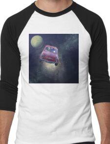 Bella in Space - by Anne Winkler Men's Baseball ¾ T-Shirt