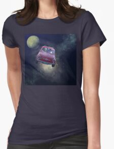 Bella in Space - by Anne Winkler Womens Fitted T-Shirt