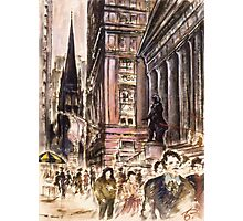 New York Wall Street Painting Photographic Print