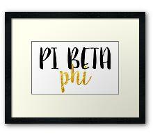pi phi gold Framed Print