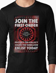 First Order Recruitment Poster Long Sleeve T-Shirt