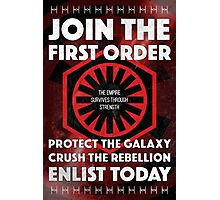First Order Recruitment Poster Photographic Print