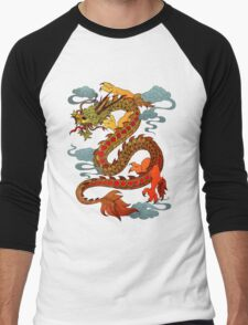 Chinese Dragon - Fire Men's Baseball ¾ T-Shirt