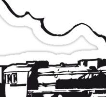 dampflok railroad train locomotive tender romance Sticker