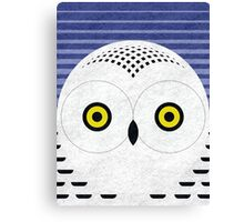 Snowy Owl Head Canvas Print