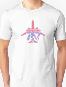Red and Blue 767 T-Shirt