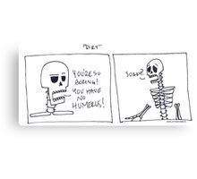 Dry Skeletons Canvas Print