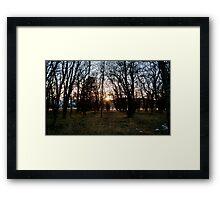 Center Light Framed Print