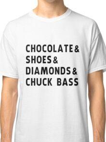 chocolate, shoes, diamonds, chuck bass Classic T-Shirt